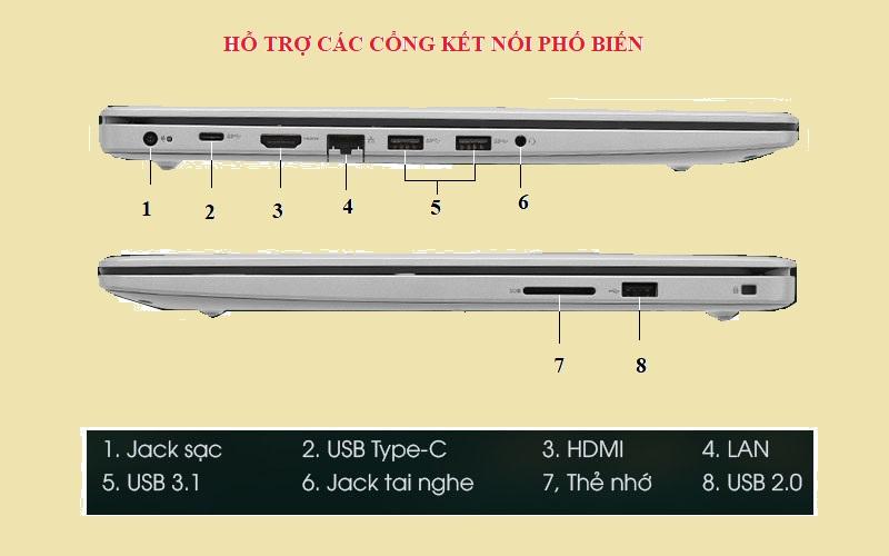 các cổng kết nối của máy tính laptop dell inspiron n5593 core i5